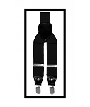 CONVERTIBLE END BLACK SUSPENDERS