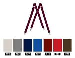 """SEGAL"" CLIP ON SUSPENDERS - ASSORTED COLORS"