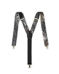 MOSSY OAK CAMOUFLAGE CLIP-ON SUSPENDERS