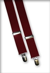 CLASSIC COLOR KEYED CLIP-ON SUSPENDERS - ASSORTED COLORS