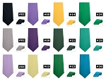 SEGAL POLY SATIN 4-IN-HAND STRAIGHT TIE - ASSORTED COLORS