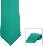 """SEGAL SATIN"" TEAL LONG TIE"