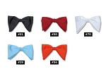 CLASSIC POLY SATIN TEAR DROP CLIP-ON BOW TIES - ASSORTED COLORS CLOSEOUT