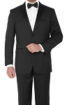 S140'S NOTCH MEN'S BLACK TUXEDO