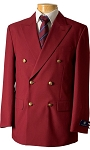 VSA BURGUNDY DOUBLE BREASTED BLAZER JACKET - MEN'S