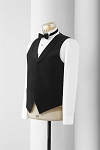 NEIL ALLYN BLACK COMFORT STRETCH LAPELED SERVER VEST - MEN'S