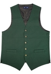 NEIL ALLN GREEN POLYESTER CAREER VEST - MEN'S