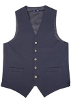 NEIL ALLN NAVY POLYESTER CAREER VEST - MEN'S