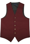 NEIL ALLN BURGUNDY POLYESTER CAREER VEST - MEN'S