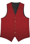 NEIL ALLN RED POLYESTER CAREER VEST - MEN'S