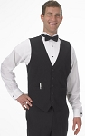 SEGAL BLACK DURAWEAR SERVER VEST - MEN'S