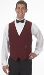 SEGAL BURGUNDY DURAWEAR SERVER VEST - MEN'S