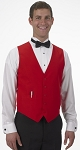 SEGAL CHERRY RED DURAWEAR SERVER VEST - MEN'S