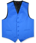 Satin Solid Color Vests