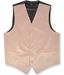 PETAL BLUSH BRAND Q SATIN VEST SET (VEST, LONG TIE, HANKIE)