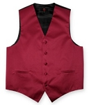 CRANBERRY BRAND Q SATIN VEST SET (VEST, LONG TIE, HANKIE)
