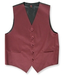 BURGUNDY BRAND Q SATIN VEST SET (VEST, LONG TIE, HANKIE)