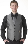 """APEX"" MEN'S PEWTER GREY TUXEDO VEST"