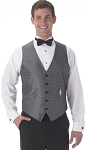SEGAL DIAMOND LEAF FULL BACK VEST - MEN'S SILVER