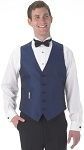 """DIAMOND LEAF"" MEN'S NAVY BLUE TUXEDO VEST"