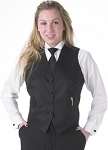 SEGAL DIAMOND LEAF FULL BACK VEST - WOMEN'S BLACK