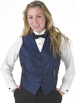 SEGAL DIAMOND LEAF FULL BACK VEST - WOMEN'S NAVY