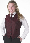 SEGAL DIAMOND LEAF FULL BACK VEST - WOMEN'S BURGUNDY