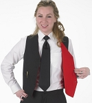 SEGAL BLK/SCARLET RED DURAWEAR REVERSIBLE VEST - WOMEN'S