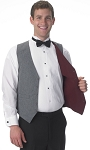 SEGAL GREY/BURGUNDY DURAWEAR REVERSIBLE VEST - MEN'S