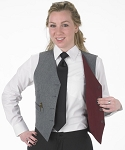 SEGAL GREY/BURGUNDY DURAWEAR REVERSIBLE VEST - WOMEN'S