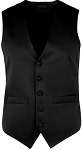 MEN'S BLACK RICH SATIN VEST