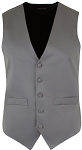 MEN'S SILVER RICH SATIN VEST