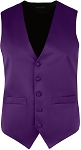 SEGAL RICH SATIN FULL BACK VEST - MEN'S DARK PURPLE