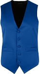 MEN'S ROYAL BLUE RICH SATIN VEST