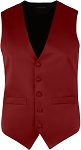 MEN'S BURGUNDY RICH SATIN VEST
