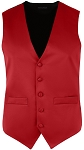 SEGAL RICH SATIN FULL BACK VEST - MEN'S RED