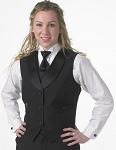 SEGAL BLACK DURAWEAR LAPELED SERVICE VEST - WOMEN'S