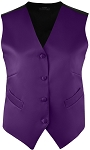 WOMEN'S DARK PURPLE RICH SATIN VEST