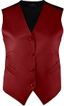 WOMEN'S BURGUNDY RICH SATIN VEST