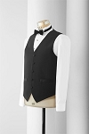 NEIL ALLYN WOOL MEN'S BLACK TUXEDO VEST