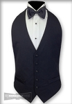 MENS BLACK WOOL BACKLESS VEST