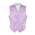 LILAC LUXURY SATINS FULL BACK VEST
