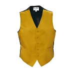 GOLD LUXURY SATINS FULL BACK VEST