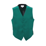 DARK TEAL LUXURY SATINS FULL BACK VEST