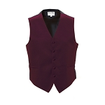 BURGUNDY LUXURY SATINS FULL BACK VEST
