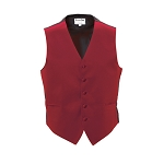 RED LUXURY SATINS FULL BACK VEST