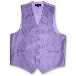 LILAC PAISLEY VEST TIE HANKIE AND BOW COMBO - SLIM FIT
