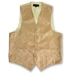 """AMANTI PAISLEY"" SLIM FIT MEN'S GOLD TUXEDO VEST SET"