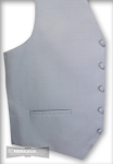 PLATINUM MICRO DOT FULL BACK VEST SET (VEST, LONG TIE, BOW TIE)