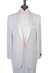 """713GB-70"" SHAWL MEN'S WHITE TUXEDO"